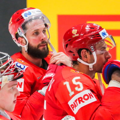 Besvikna ryska spelare.