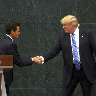 Enrique Pena Nieto och Donald Trump.