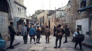 israeliska soldater i Jerusalems gamla stad