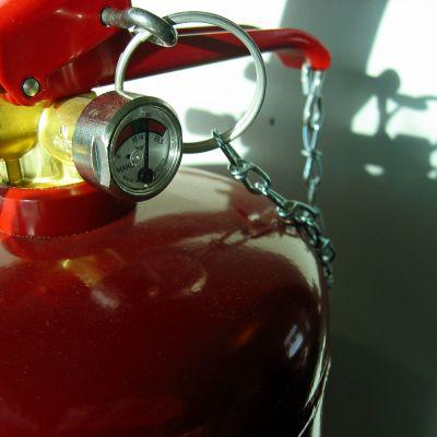 Brandsläckare.