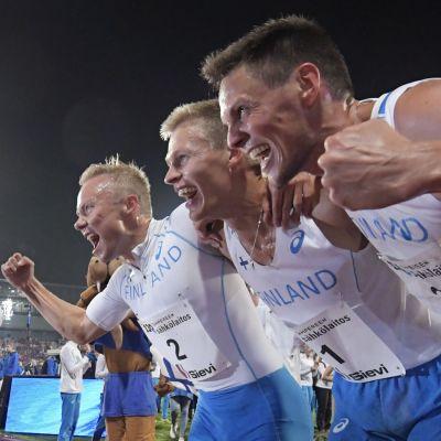 Joonas Rinne, Topi Raitanen och Tuomo Salonen.