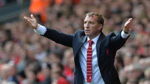 Brendan Rodgers tränar Liverpool.
