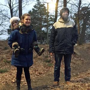 Familjen Nymark och Kjellberg på Tranholömen i Stockholm.