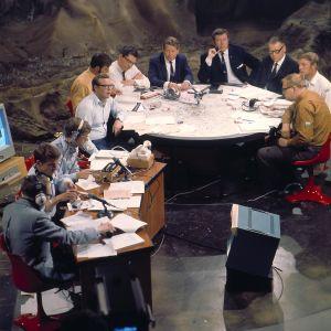 Ylen Kuustudio, jossa seurattiin Apollo 11 -lentoa heinäkuussa 1969.