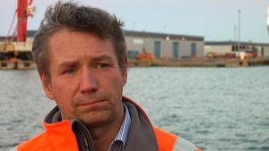 Björn Peltonen, teknisk chef i Hangö hamn.