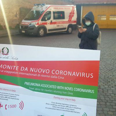 Information om coronaviruset  i Piacenza, norra Italien 21.2.2020
