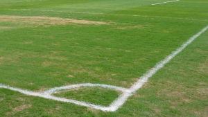 Hörnet av en fotbollsplan