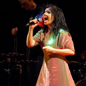 Björk på scenen 2007.