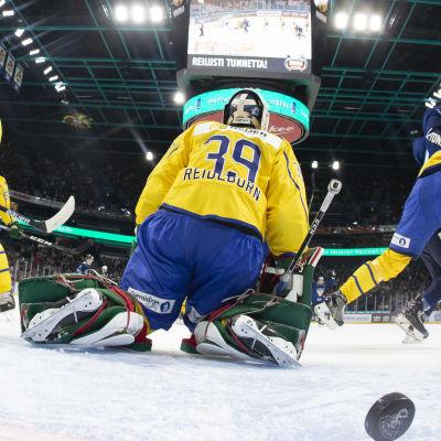 Sverige släpper in mål mot Finland 2019.