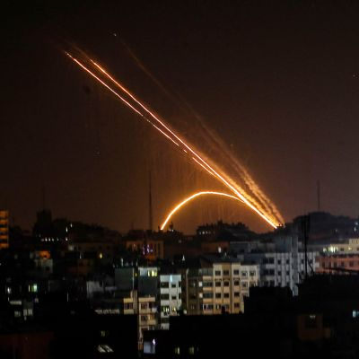 Gazasta ammuttuja raketteja.