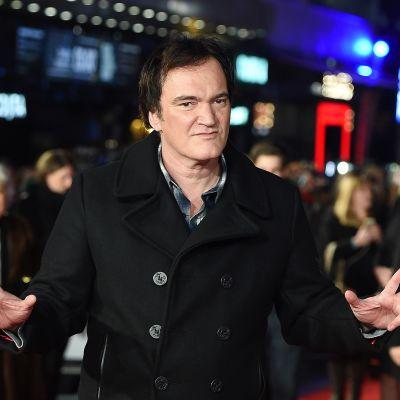Elokuvaohjaaja Quentin Tarantino Lontoossa 10. joulukuuta.