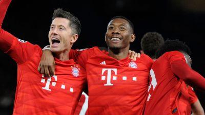Bayern München firar mål.