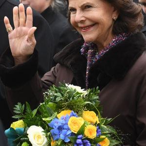 Drottning Siliva på besök i Tyskland i oktober 2016.