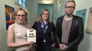 Marjut Tervola, Anna Mäkelä ja Mikko-Pekka Heikkinen