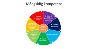 De sju kompetensområden som skolelever ska utveckla
