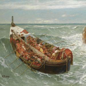 Arnold Böcklingin maalaus Odysseus ja Polyphemus