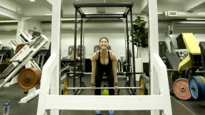 Linda Paldanius treenaa