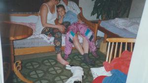Sami Kieksi vanhempiensa kanssa