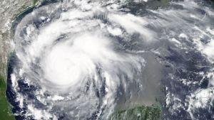 Orkanen fotograferad av Nasa den 24.8.2017.