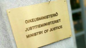 skylt vid justitieministeriet
