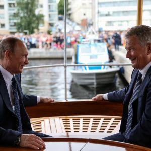 Presidenterna Vladimir Putin och Sauli Niinistö