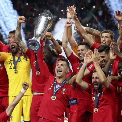 Portugal firar sin Nations League-titel.