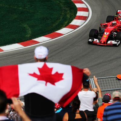 Kimi Räikkönen oli harjoitusten nopein Kanadan GP:ssä