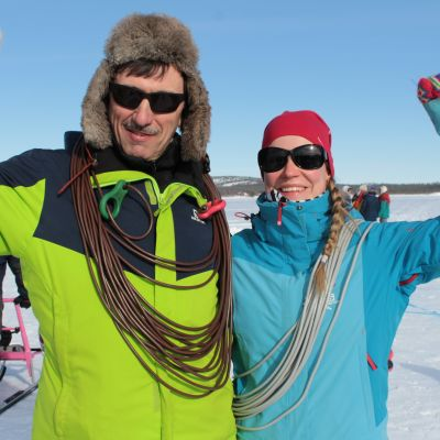 Sara Siirtola ja Jukka Kaarretkoski.