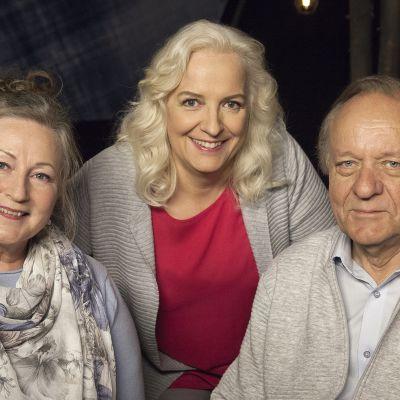Sielunkumppanit, näyttelijät Esko Roine ja Ritva Jalonen ovat Maarit Tastulan vieraina Flinkkilä & Tastula -ohjelmassa.