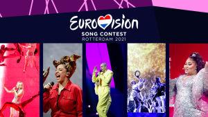 Euroviisujen ensimmäisessä semifinaalissa kilpailevia artisteja.