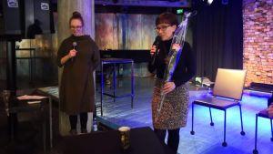 toimittaja Katarina Blomqvist ja ravitsemusasiantuntija Sanna Talvia