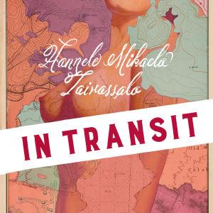 Bokpärm med naken kvinna i kartgrafik
