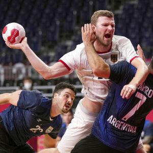 Tyskland spelar handboll i OS.