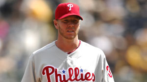 Roy Halladay under en basebollmatch.