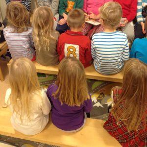 Barn på ett dagis i Larsmo.