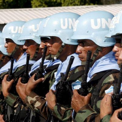 FN-soldater på fredsbevararuppdrag i Libanon.