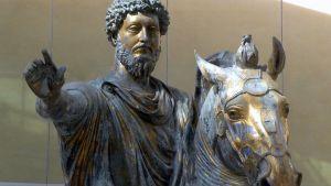 Staty av kejsaren Marcus Aurelius.