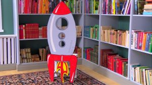 Lees raket i retrostil.