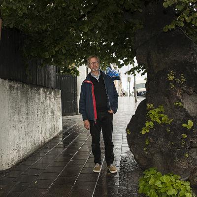 museichef Guy Björklund, gamla linden vid torget