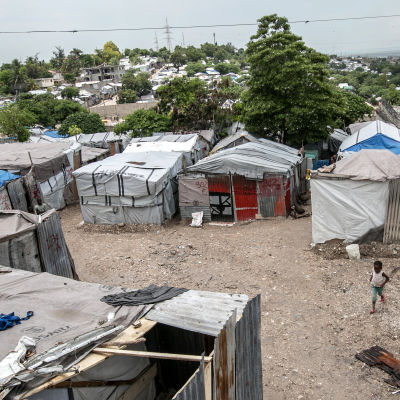 Många haitier bor fortfarande i tillfälliga ruckel i bristande hygieniska förhållanden, sex år efter den förödande jordbävningen. Fattigdomen bidrar till spridningen av zika-viruset.