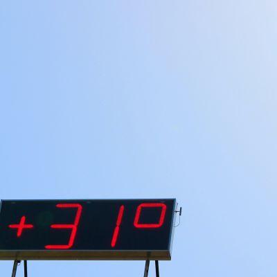 +31 astetta lämmintä