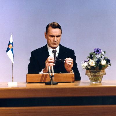 Presidentti Mauno Koivisto ja uudenvuodenpuhe 1983.