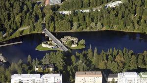 flygbild på kajaneborg