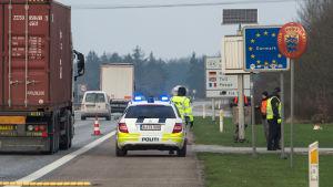 Gränskontroll vid tysk-danska gränsen.