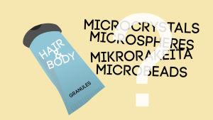 Kosmetiikkapullo ja muovirakeiden nimityksiä, grafiikka