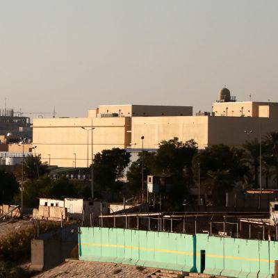 USA:s ambassad i Bagdad, fotograferad den 31 december 2019.