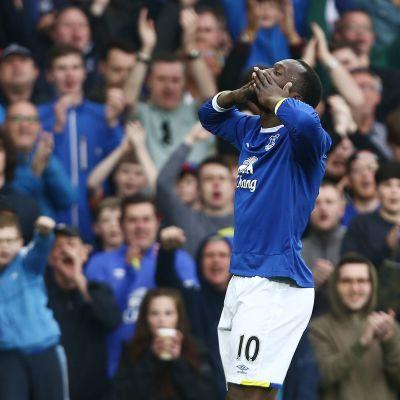 Romelu Lukaku i Evertons tröja.