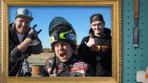 Janne, Juha ja Juhana työllistyvät moottoripyörien parissa