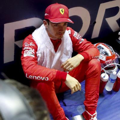 Charles Leclerc blev tvåa i Singapore.