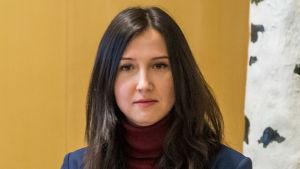 Gymnasie- och kunskapslyftsminister Aida Hadzialic i Stockholm i januari 2016.